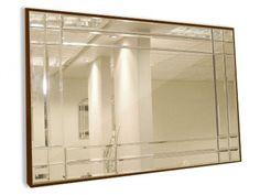 espelho bronze com moldura bisotado - Pesquisa Google