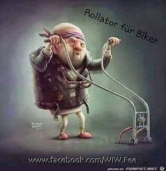 lustiges Bild 'Rollator fuer Biker.jpg'- Eine von 25503 Dateien in der Kategorie 'witzige Bilder' auf FUNPOT.