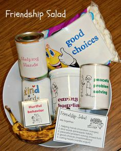 Last lesson of the year in Kindergarten: Friendship Salad. Students love this lesson and ask for it year after year. (Too bad I only do it with Kindys!) Students take home their own recipe card.
