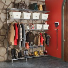 Don't have a mudroom space? Use this and create your garage into the mudroom area you need.  Like what you see? For how-to's tips, tricks and all things organized, visit my website at www.clearingspacebydesign.com You'll be glad you did!