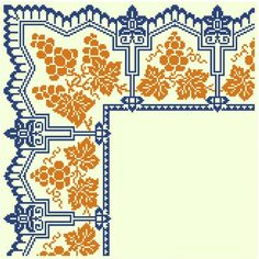 Corner chart - embroidery or filet crochet
