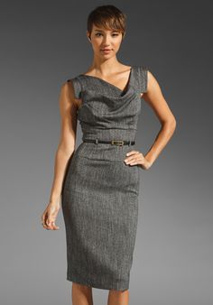 Black Halo Jackie O Dress in Tweed -revolveclothing.com