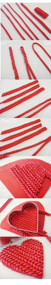 fondant (or clay) knitting Fondant Tips, Fondant Icing, Fondant Tutorial, Fondant Toppers, Fondant Cakes, Frosting, Cake Decorating Techniques, Cake Decorating Tutorials, Cookie Decorating