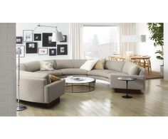 Shop for American Leather Left Arm Three Cushion Sofa ORS-SO3-LA and other Living Room Sectionals High style combined with inviting comfort Orsou2026  sc 1 st  Pinterest : round sectionals - Sectionals, Sofas & Couches