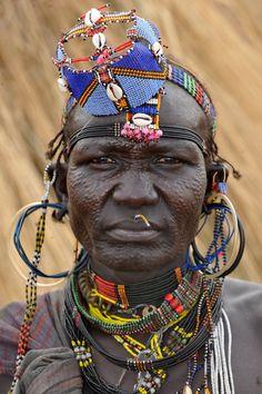 Africa | JIE woman. Southern Sudan | © Geert Henau.