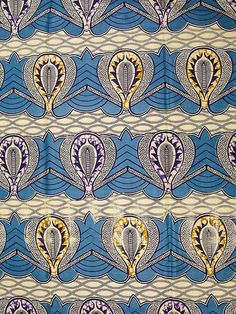 African Fabric Super Wax Print 6 Yards Cotton sw811103209