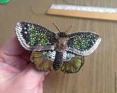 Вышиваем бисером элегантную бабочку. Часть третья: заключительная - Ярмарка Мастеров - ручная работа, handmade