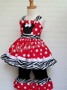Custom Boutique Clothing Minnie Mouse Jumper Top and by amacim, $45.00