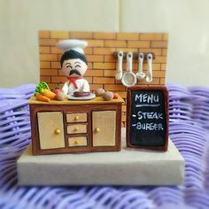 Paper-clay art _ a chef