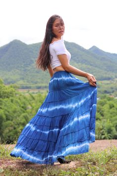 Boho Skirt / Maxi Skirt / Maxi Boho Skirt /Modest Skirt / Beach Skirt /Full Length skirt / Tie Dye Skirt / Long Skirt/ Long Skirt Modest Skirts, Long Maxi Skirts, Boho Skirts, Beach Skirt, Full Length Skirts, Boho Pants, Cotton Skirt, Flare Pants, Summer Looks