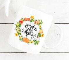 Pumpkin Mug,Pumpkin Spice Everything Mug,Fall Mug,Halloween Mug,Halloween Gift, Fall Mug,Halloween Coffee Mug,Halloween Cup,Thanksgiving Mug by mhuglife on Etsy