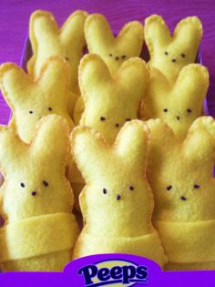 Felt Peeps Bunnies pattern and tutorial