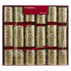 Fill your own crackers from lakeland christmas pinterest buy john lewis gold snowy boughs crackers set of 6 online at johnlewis solutioingenieria Choice Image