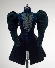 Afternoon jacket Design House: Augustine Martin & Company Designer: Augustine Martin Date: 1895 Culture: French Medium: silk, jet, beads