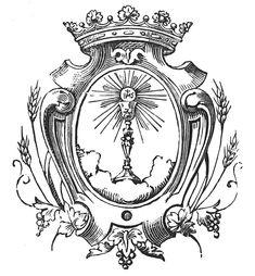 eucharistia engraving lineart - Hledat Googlem