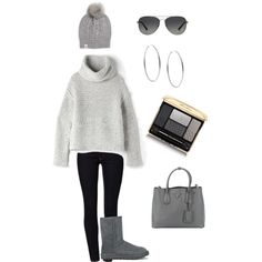 Designer Clothes, Shoes & Bags for Women In This Moment, Shoe Bag, Grey, Winter, Polyvore, Stuff To Buy, Shopping, Design, Women