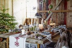 Beautiful table setting for the Holiday!
