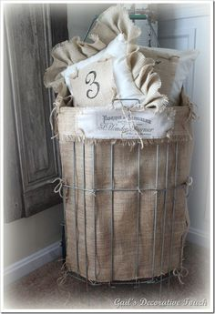DIY- Basket ! Made With Dollar Store Basket-