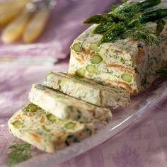 Découvrez la recette Terrine de Saumon Fumé aux Asperges Vertes sur cuisineactuelle.fr.