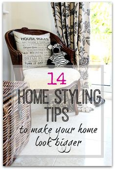 Make your home look bigger with these great home styling tips and tricks of the trade. Create space in your home
