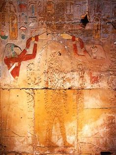 Hatshepsut died ca. 1483 BC and Thutmosis III reigned alone for another 33 years. Whether Hatshepsut died a natural death, or was murdered is disputed by Egyptologists. Her monuments and statues are defaced or chiseled out.  Jealousy from Thutmose III?