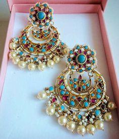 Navdp56 Jewelry Design Earrings, Fashion Earrings, Fashion Jewelry, Pakistani Jewelry, Bollywood Jewelry, Indian Earrings, India Jewelry, Jewelry Patterns, Beautiful Earrings