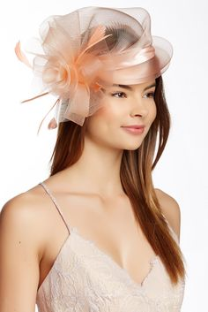 Feather Trim Fascinator