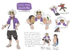 Headcanon: Guzma got redemption and replaced Nanu as the Kahuna of Ula'Ula Island