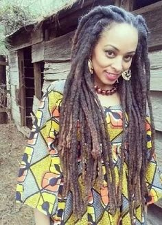 """Natural locs, no you don't have to go to a beauty salon to have dreads! The truth is all that twisting & """"making them neat & tight"""" can lead to loss of hair & dreads that are weak leading to them. Dreadlock Styles, Dreadlock Hairstyles, Bob Marley, Nattes Twist Outs, Rapunzel, Beautiful Dreadlocks, Pelo Natural, Natural Dreads, We Are The World"""