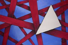 Painting #geometry #blue #red #paint #painting