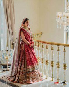 Indian Wedding Lehenga, Wedding Lehenga Designs, Designer Bridal Lehenga, Royal Indian Wedding, Indian Bridal Sarees, Indian Bridal Outfits, Indian Bridal Fashion, Indian Bridal Wear, Indian Bride Dresses