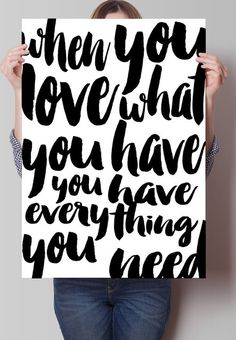 Fancy - When you love what you have Print