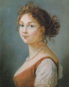 1801 Louise Augusta, Queen of Prussia by Élisabeth-Louise Vigée-Lebrun (Schloß Charlottenburg, Preussischer Kulturbesitz, Berlin)