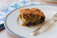 Blueberry Breakfast Cake - fat-free and vegan