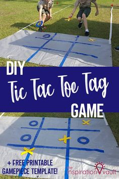 DIY Tic Tac Toe Tag