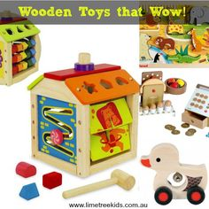 Wooden Toys for Safe and Fun Play.. the #best #gifts for #kids!