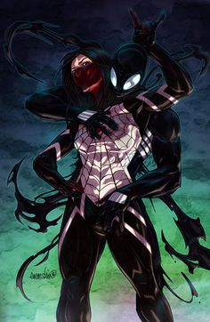 Fanart commission of Noxdmartinez as Spiderman and KiriChan (me) as Silk  By: Emmshin.