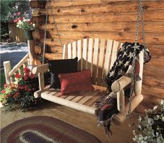 The Beauty of Amish Porch Swings - http://www.bluelittlewolf.com/the-beauty-of-amish-porch-swings/