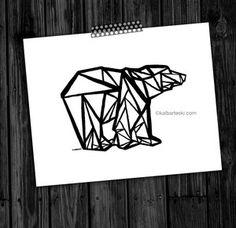 Image of fracturedBEAR print