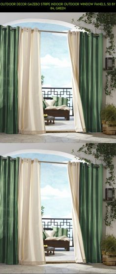 Outdoor decor Gazebo Stripe Indoor Outdoor Window Panels, 50 by 84, Green #racing #camera #drone #gazebo #stripe #plans #technology #gadgets #products #decor #kit #outdoor #parts #tech #fpv #shopping
