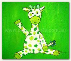 Kids Oil Painting - Kiddy Ziraf, $99.00 http://bestartdeals.com.au