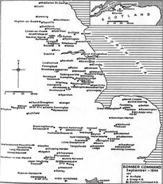 Bomber Command Station Map Ww2 Aircraft, Military Aircraft, War Medals, Battle Of Britain, Military History, Journal Pages, World War Two, Wwii