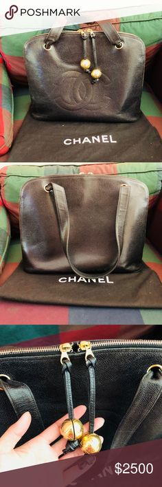 0811328ab472d1 Authentic Chanel Caviar Pud Large CC Shoulder Bag Pre-loved in really good  condition.
