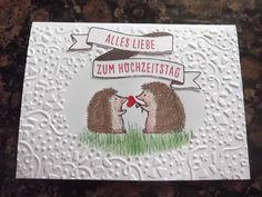 Sconebeker Stempelscheune - Stampin up Sets : Hochzeitskarte, Hochzeitstagkarte, Love you lots, Bannereien,