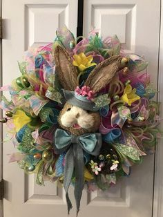 Easter Wreaths, Holiday Wreaths, Spring Wreaths, Front Door Decor, Wreaths For Front Door, Door Wreaths, Seasonal Decor, Holiday Decor, Easter Projects