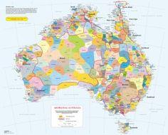 Aboriginal tribe map of Australia