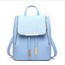 2016 novas mulheres mochilas diárias Mochila School Girl Bag couro PU sacos de…