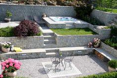 Whirlpool im Garten - gönnen Sie sich diese besonde Art Entspannung Jacuzzi, Inground Hot Tub, Water Features In The Garden, Outdoor Furniture Sets, Outdoor Decor, Water Garden, Bird Houses, Exterior Design, Patio