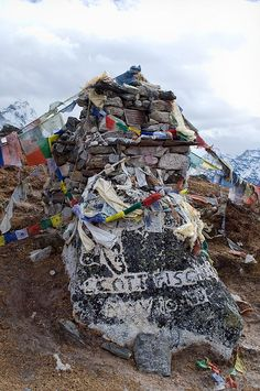 Scott Fischer memorial near Thokla Pass. Scott Fischer was one of the better known climbers who died during the 1996 Everest season. This was the worst season on record, with 15 people not returning, including 8 people who died on a single day.