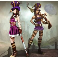 League of Legends LOL Cosplay Caitlyn Costumes